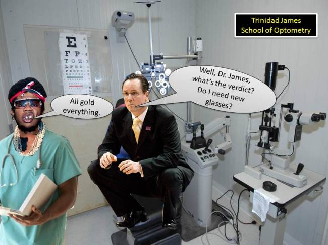 Dr. James' optometry.