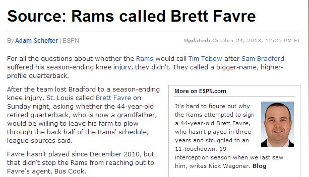 rams 2013: An Exhaustive Recap of Why This Was the Weirdest Sports Year Ever